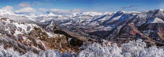 Vallée de La Jordanne, hiver, Cantal - Tirage photo