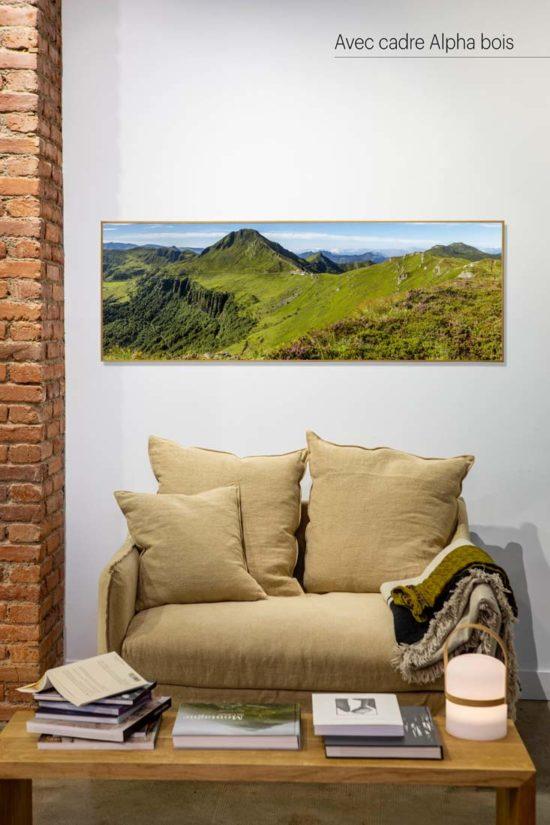 Puy Mary, Cantal - Avec cadre en bois (en option)