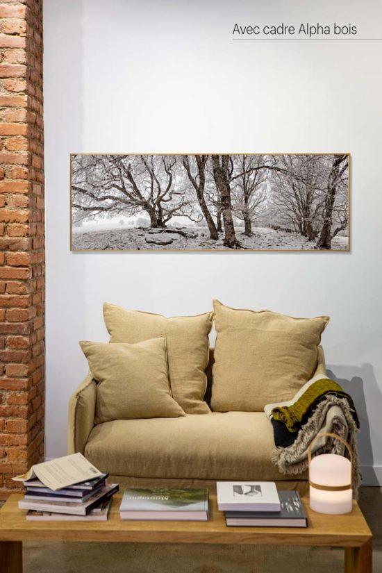 Arbres en hiver - Avec cadre en bois (en option)