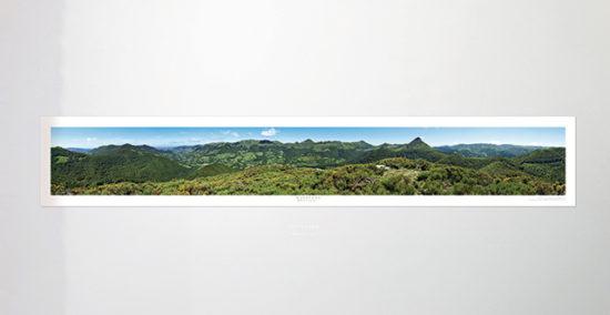 « Les Monts du Cantal » - Poster panoramique 360°