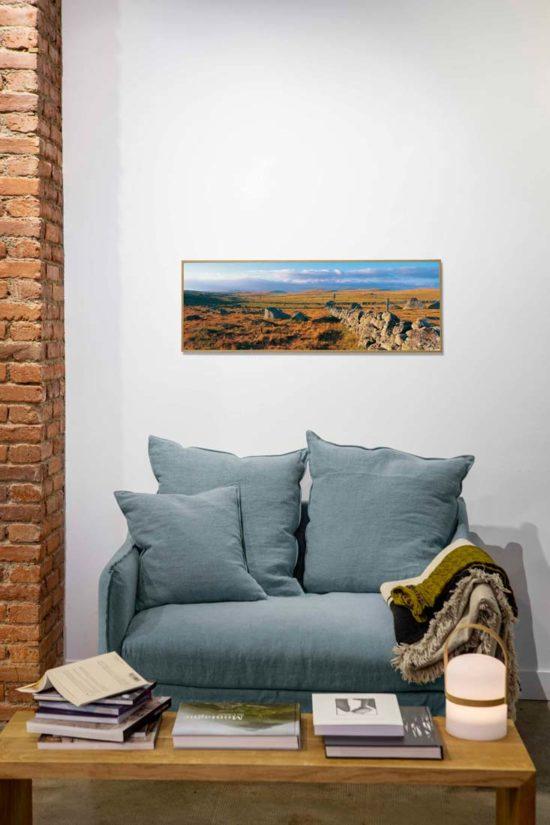 Mur de pierre en Aubrac en 95 x 33 cm (mise en scène)