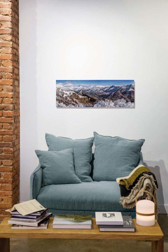 Vallée de La Jordanne, hiver, Cantal - Su Dibond (en option)